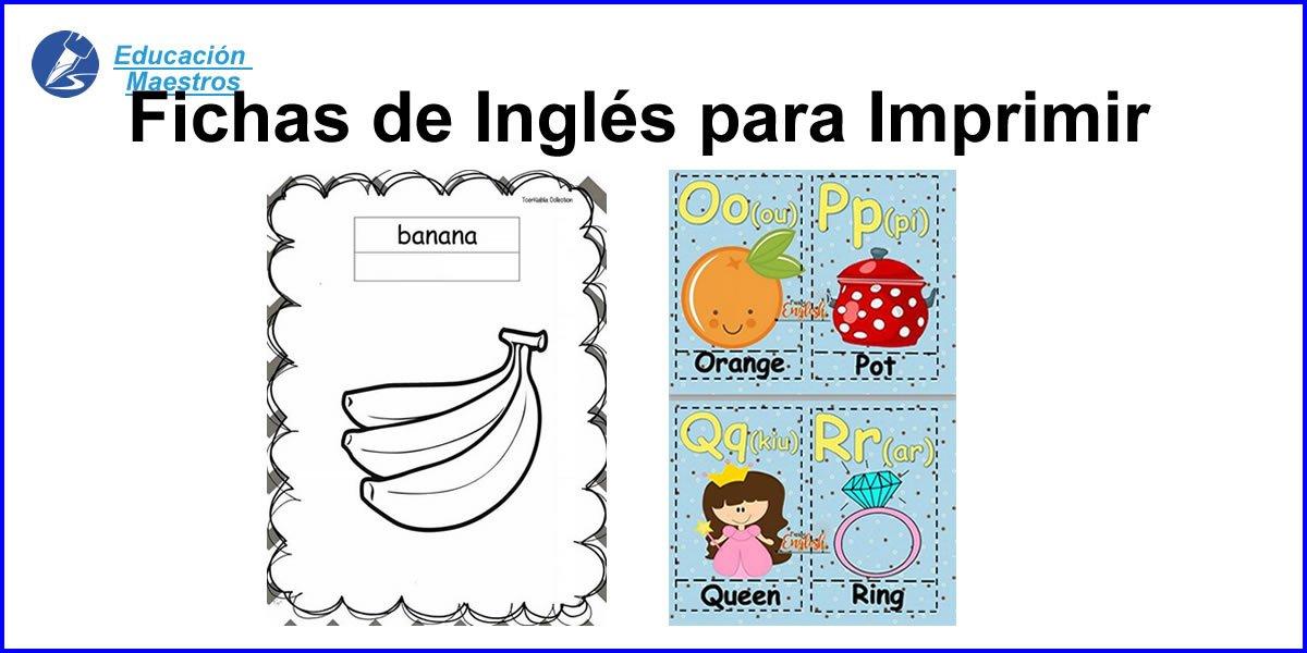 Fichas de Inglés para Niños | Imprimir 1200 Ejercicios en PDF
