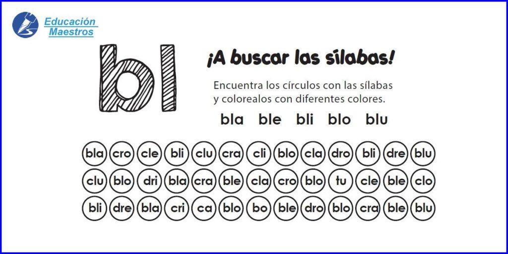 Dibujos Con La Trabada Br: Silabas Para Colorear: Mi Silabario Para COLOREAR Y