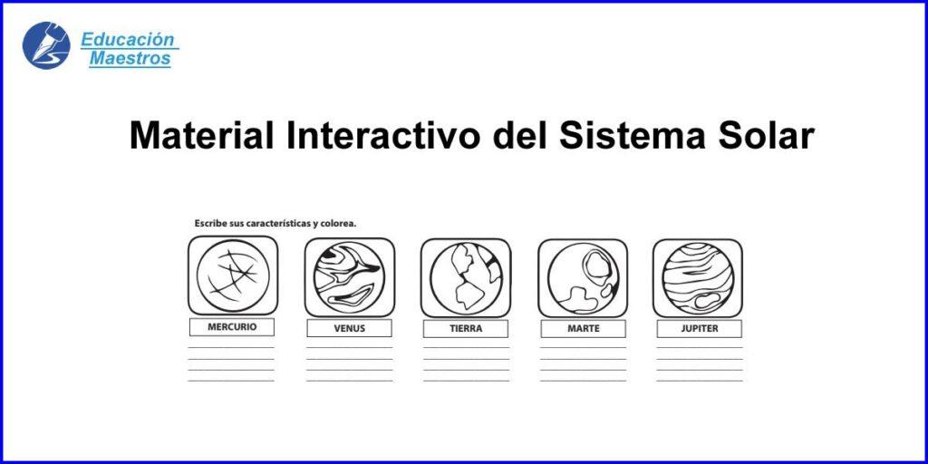Sistema Solar Ejercicios Interactivos Para Niños