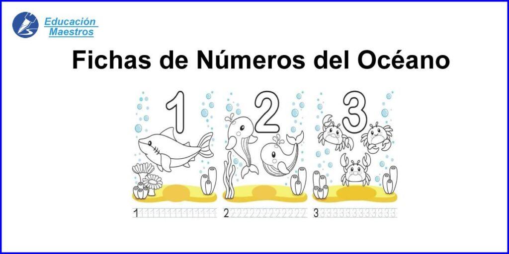 ᐈ Números Del Océano Fichas Para Trazar Y Colorear