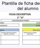 Plantilla de ficha descriptiva del alumno